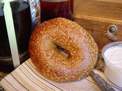 Order Fresh out of the oven Six Grain with Honey Bagels from NY Bagel and Buns