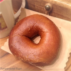 Order Fresh out of the oven Pumpernickel Bagels from NY Bagel and Buns