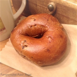 Order Fresh out of the oven Pumpernickel Raisin Bagels from NY Bagel and Buns