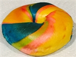 Fresh out of the oven Rainbow Bagel from NY Bagel and Buns