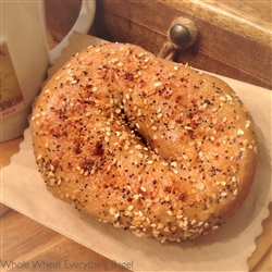 Order Fresh out of the oven Whole Wheat Everything Bagels from NY Bagel and Buns